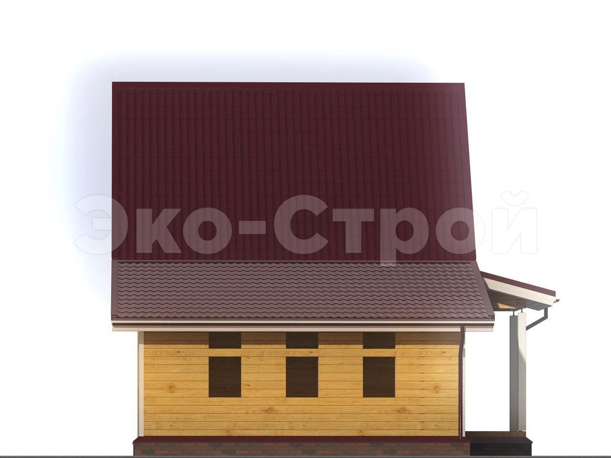 Дом из бруса ДУ 018 вид 1