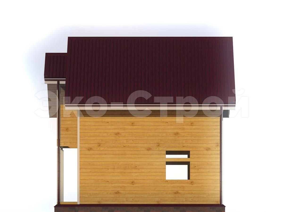 Дом из бруса ДУ 019 вид 1