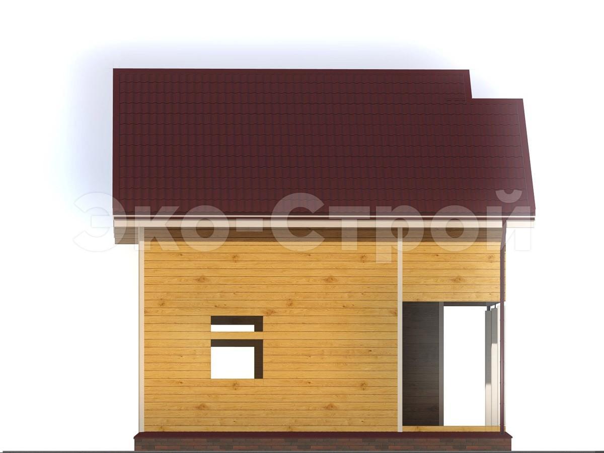 Дом из бруса ДУ 019 вид 3