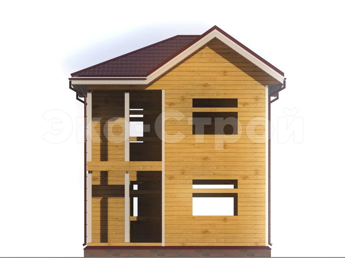 Дом из бруса ДУ 020 вид 4