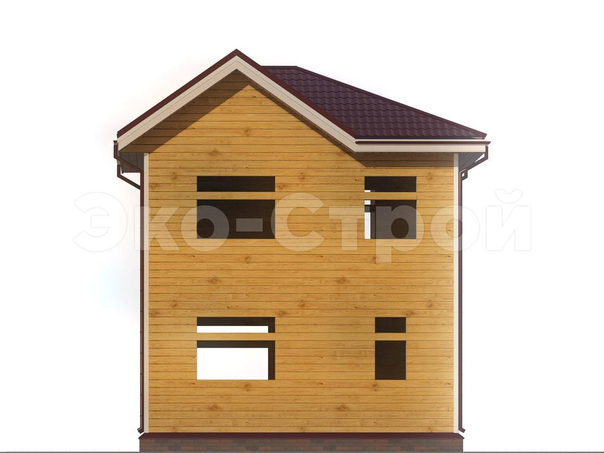 Дом из бруса ДУ 020 вид 2