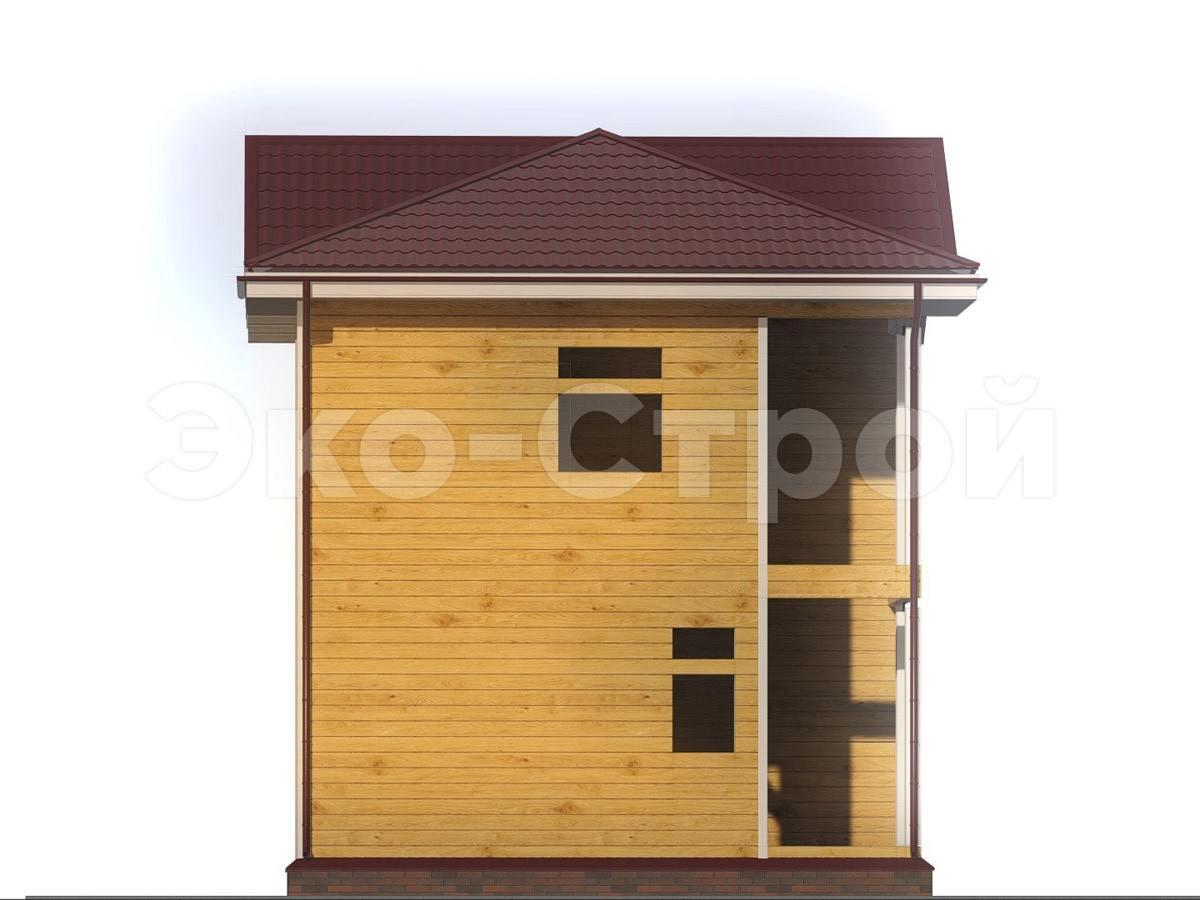 Дом из бруса ДУ 020 вид 1