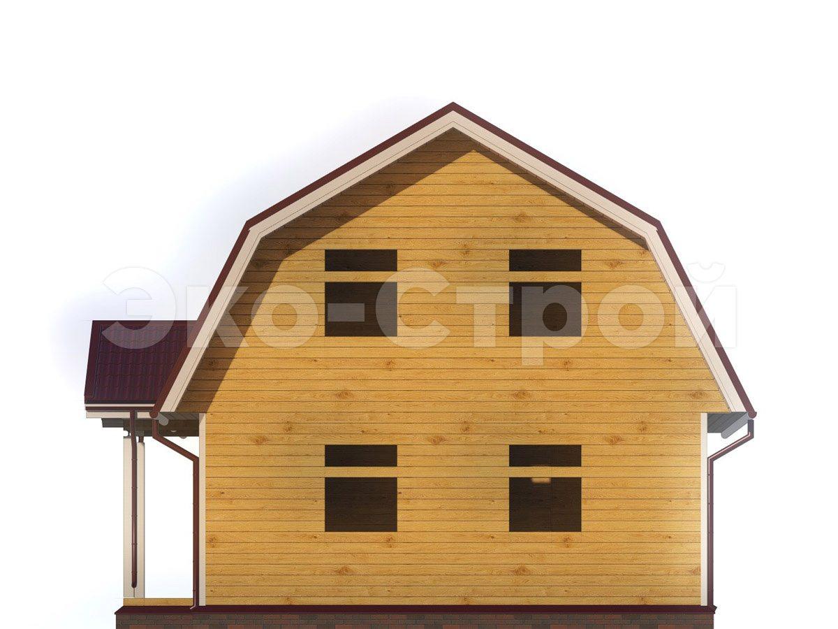 Дом из бруса ДУ 021 вид 3