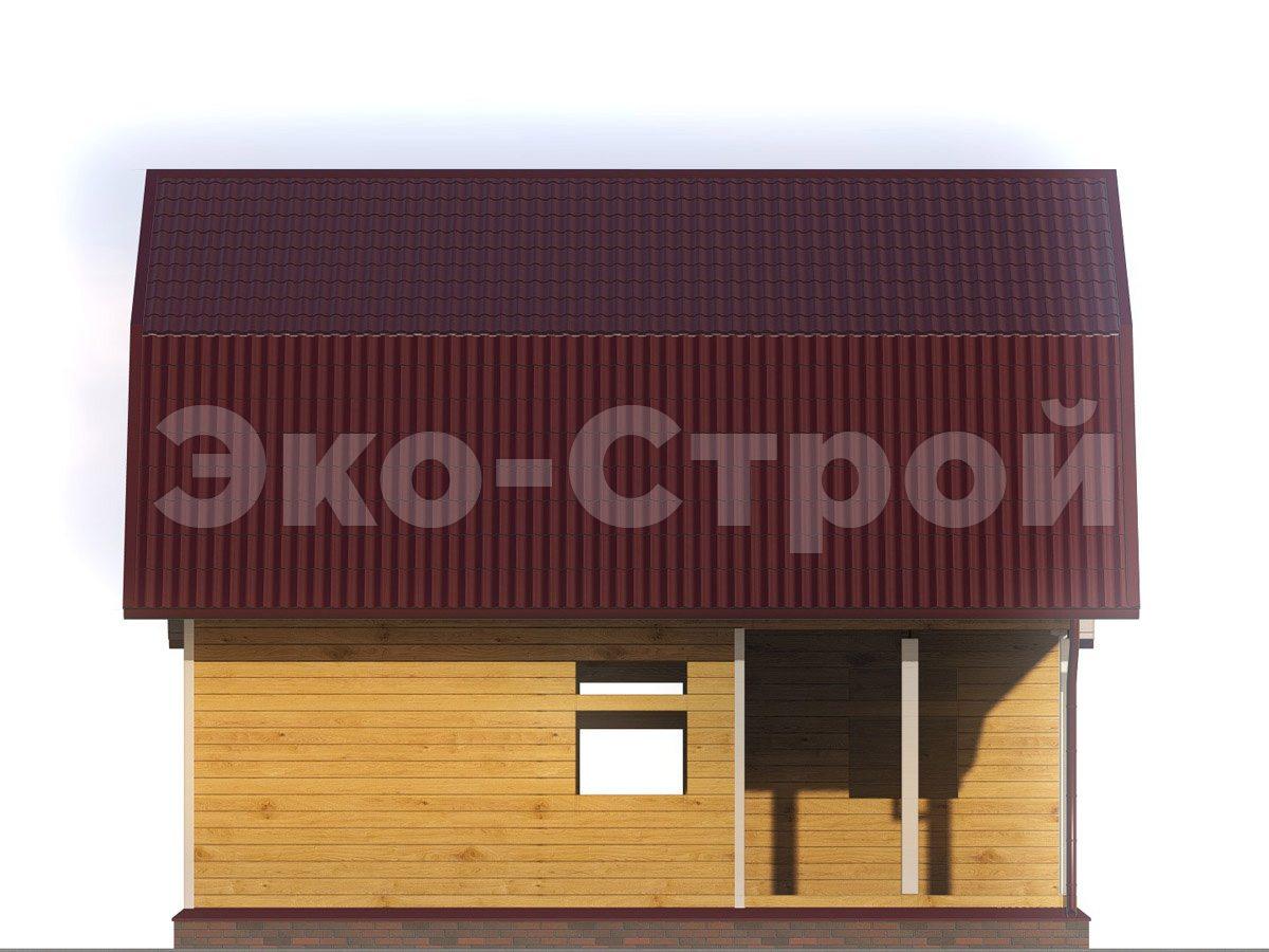 Дом из бруса ДУ 022 вид 4
