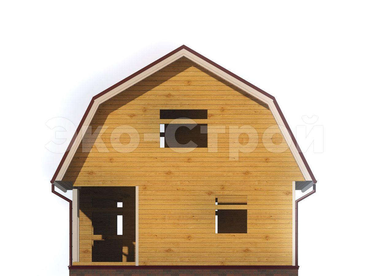 Дом из бруса ДУ 022 вид 3