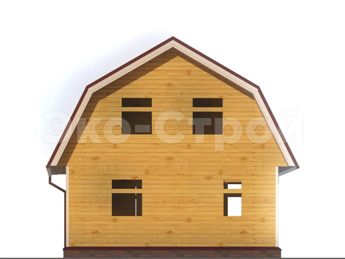 Дом из бруса ДУ 022 вид 1