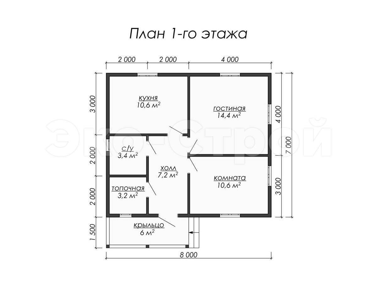 Дом из бруса ДУ 023 план