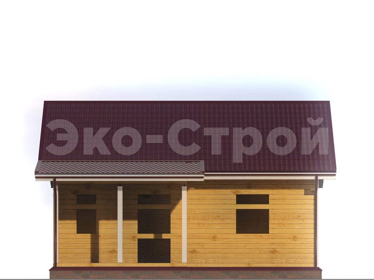 Дом из бруса ДУ 023 вид 4