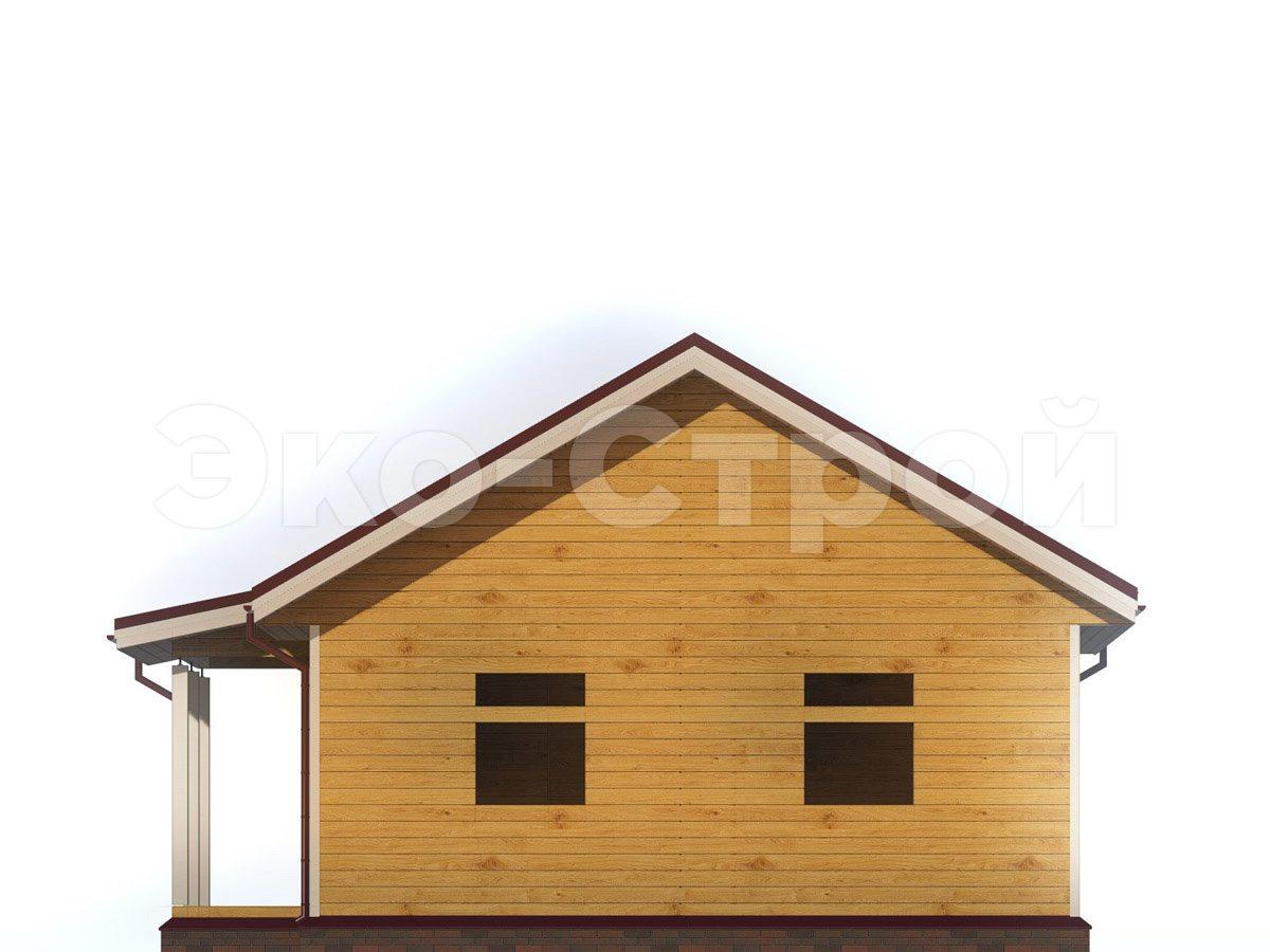 Дом из бруса ДУ 023 вид 3