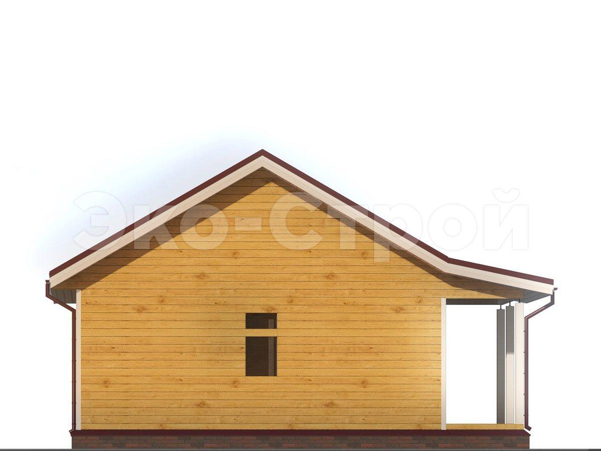 Дом из бруса ДУ 023 вид 1