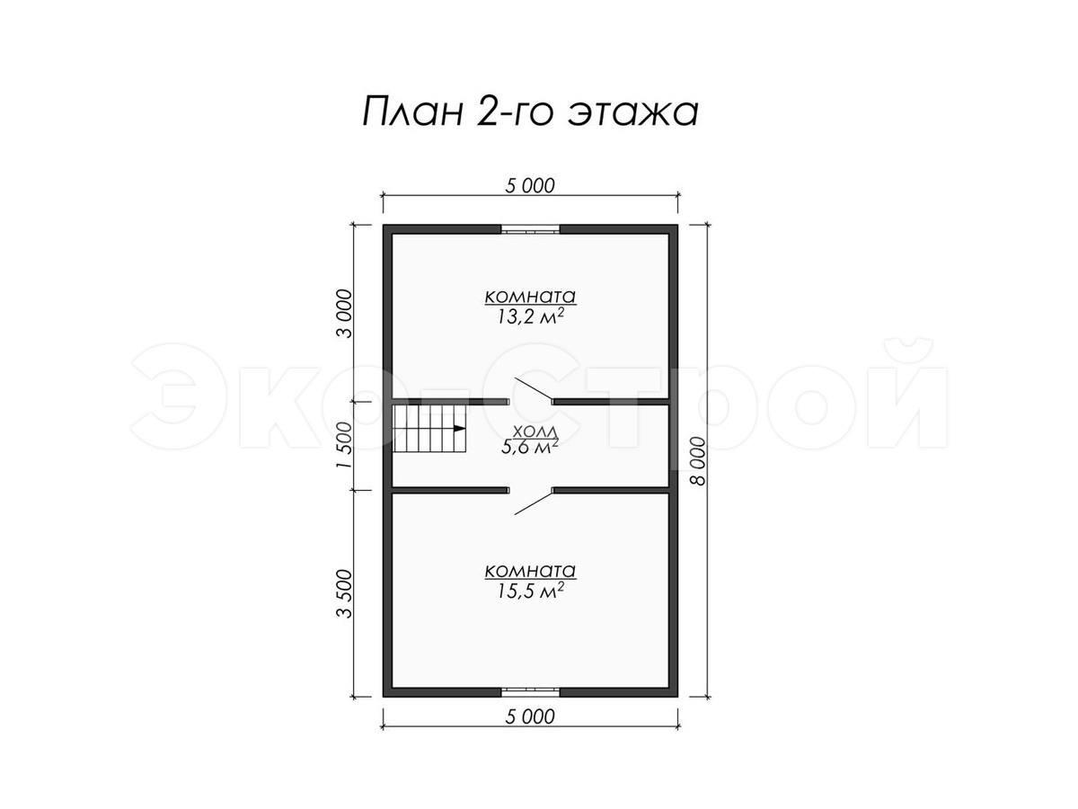 Дом из бруса ДУ 024 план 2 эт