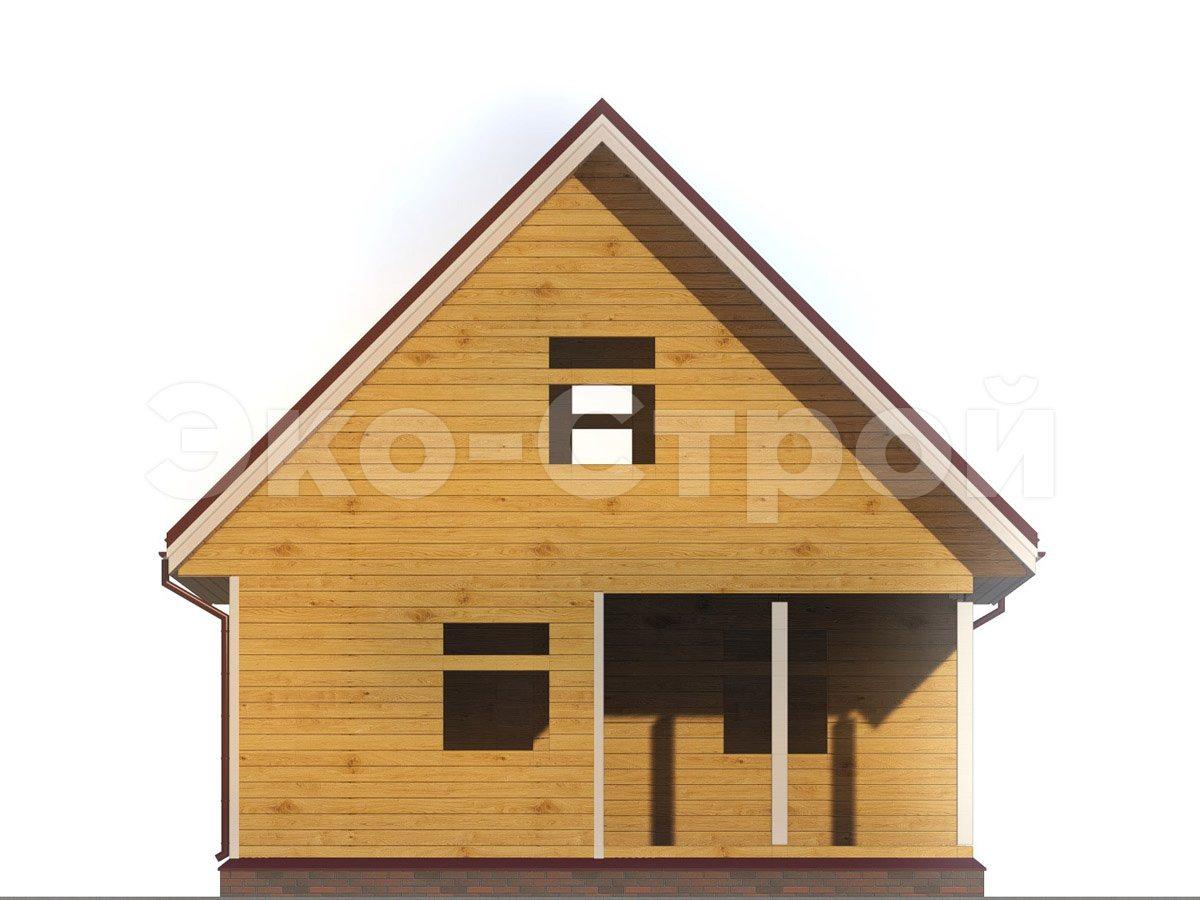 Дом из бруса ДУ 024 вид 4