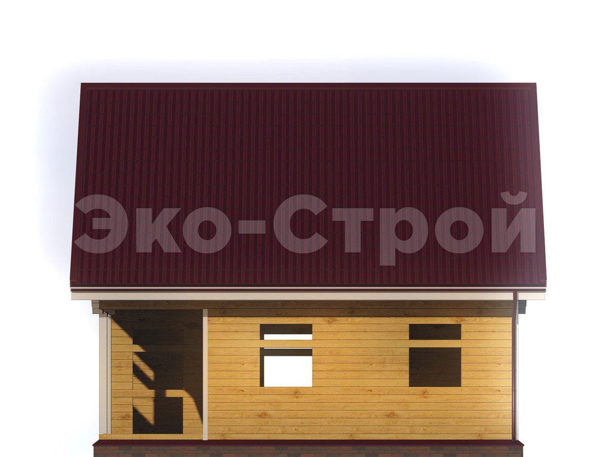 Дом из бруса ДУ 024 вид 3