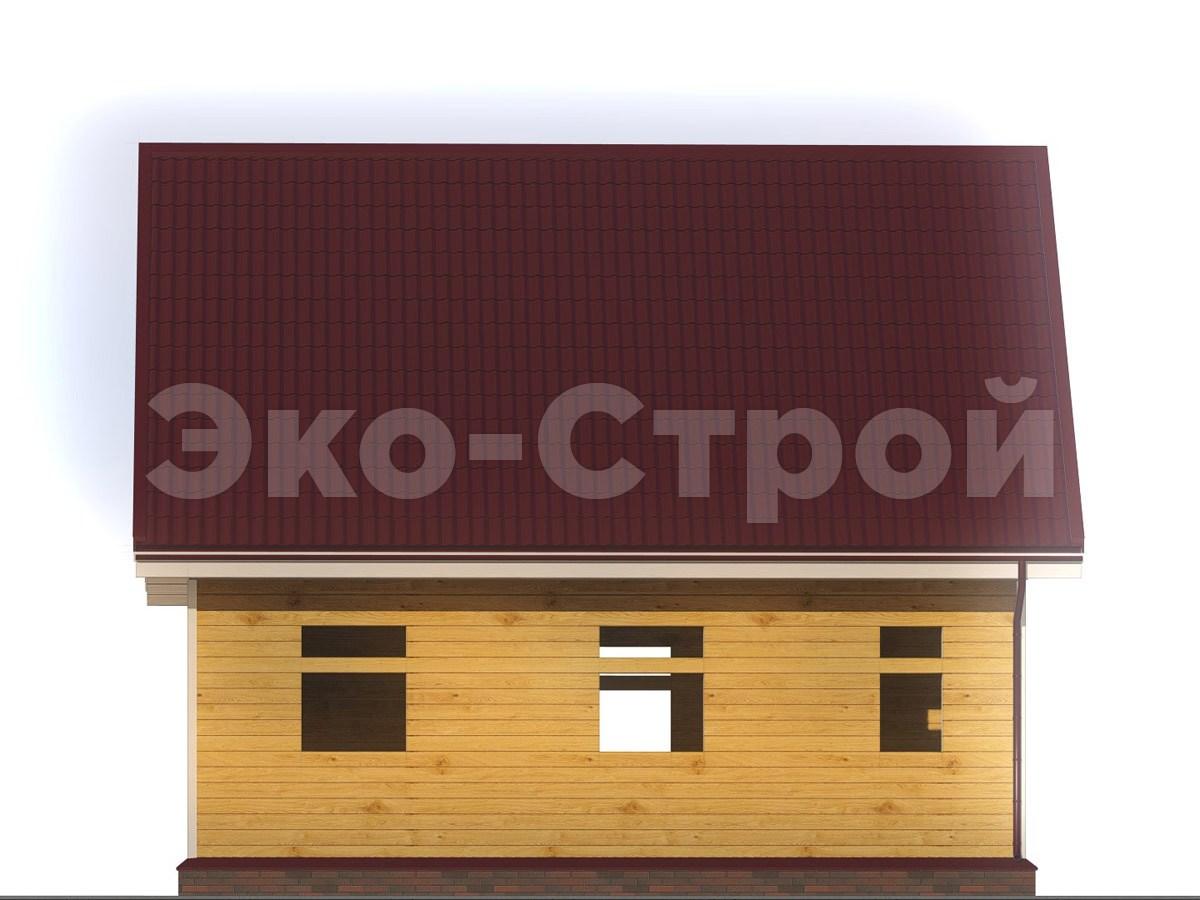 Дом из бруса ДУ 024 вид 1