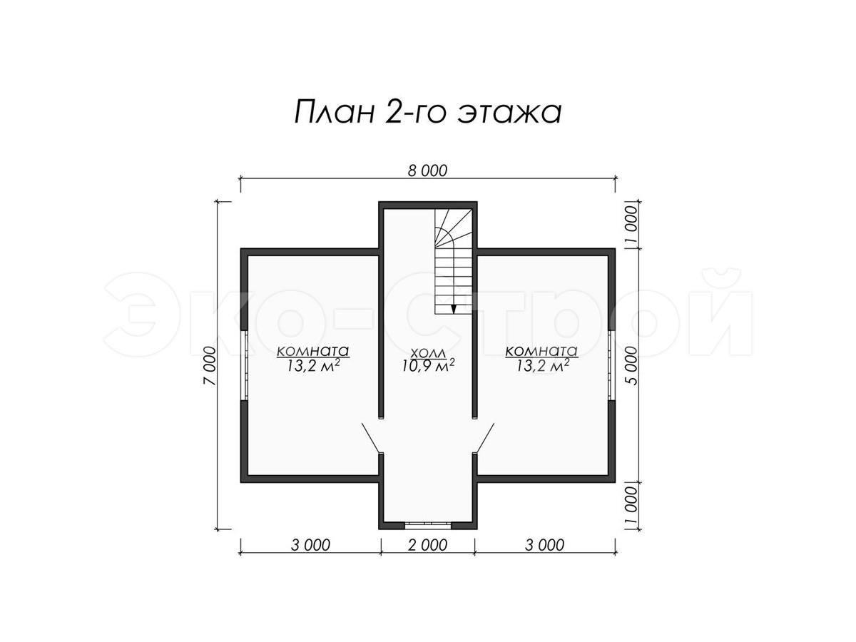 Дом из бруса ДУ 025 план 2 эт