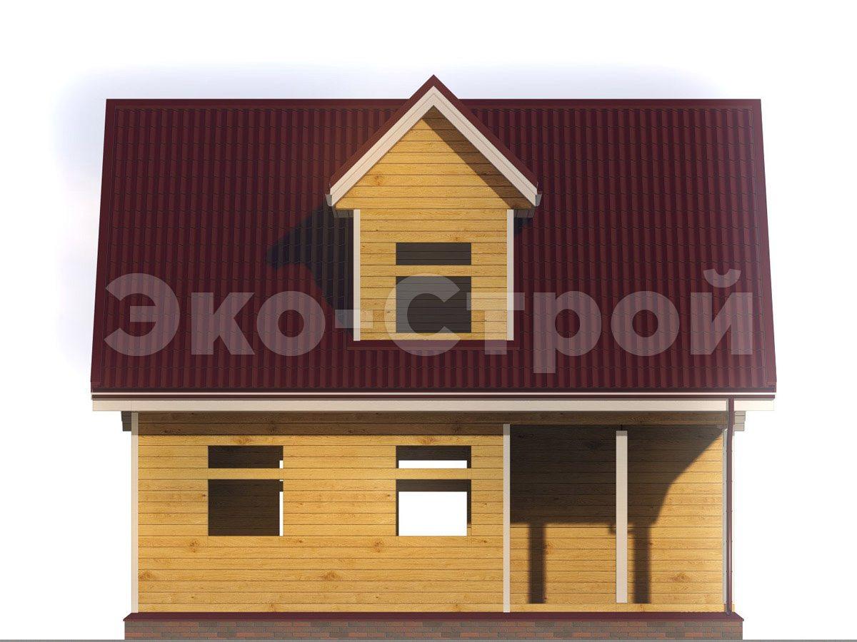 Дом из бруса ДУ 025 вид 4
