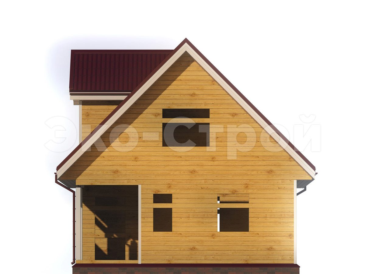 Дом из бруса ДУ 025 вид 3