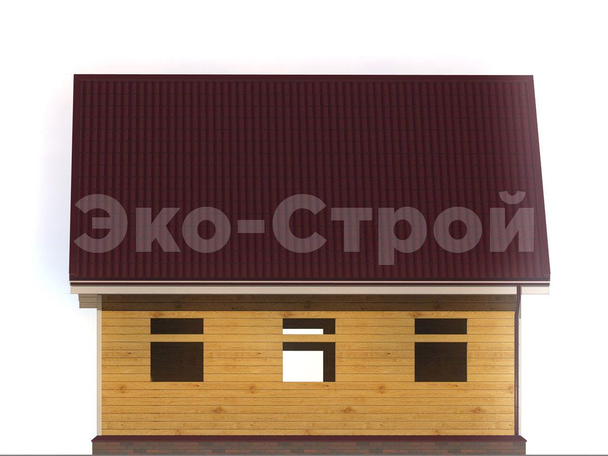 Дом из бруса ДУ 025 вид 2