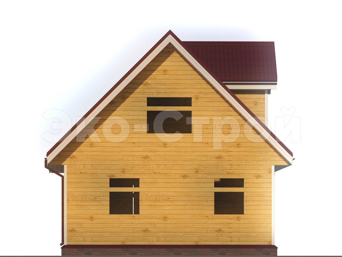 Дом из бруса ДУ 025 вид 1