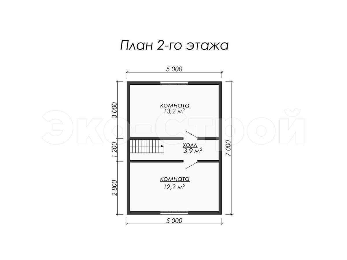 Дом из бруса ДБ 026 план 2эт