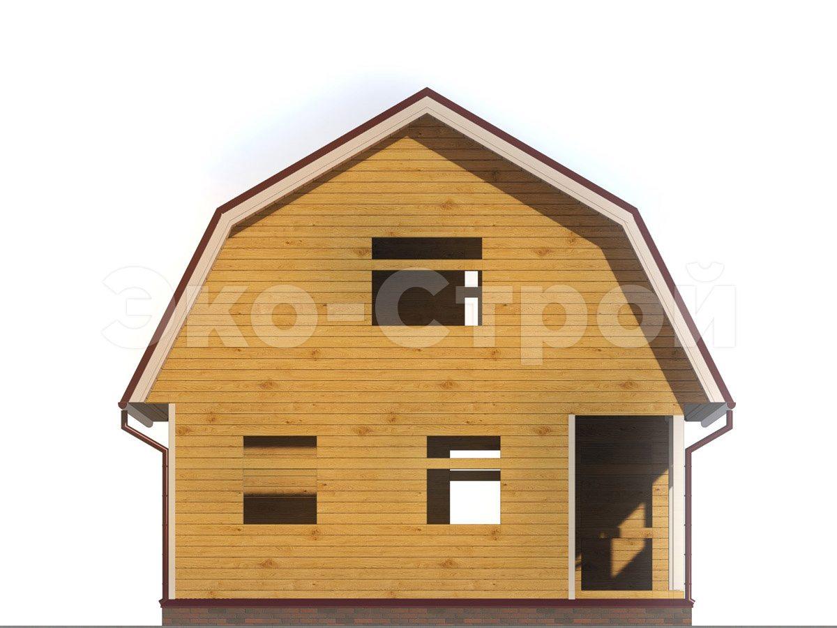 Дом из бруса ДБ 026 вид 4