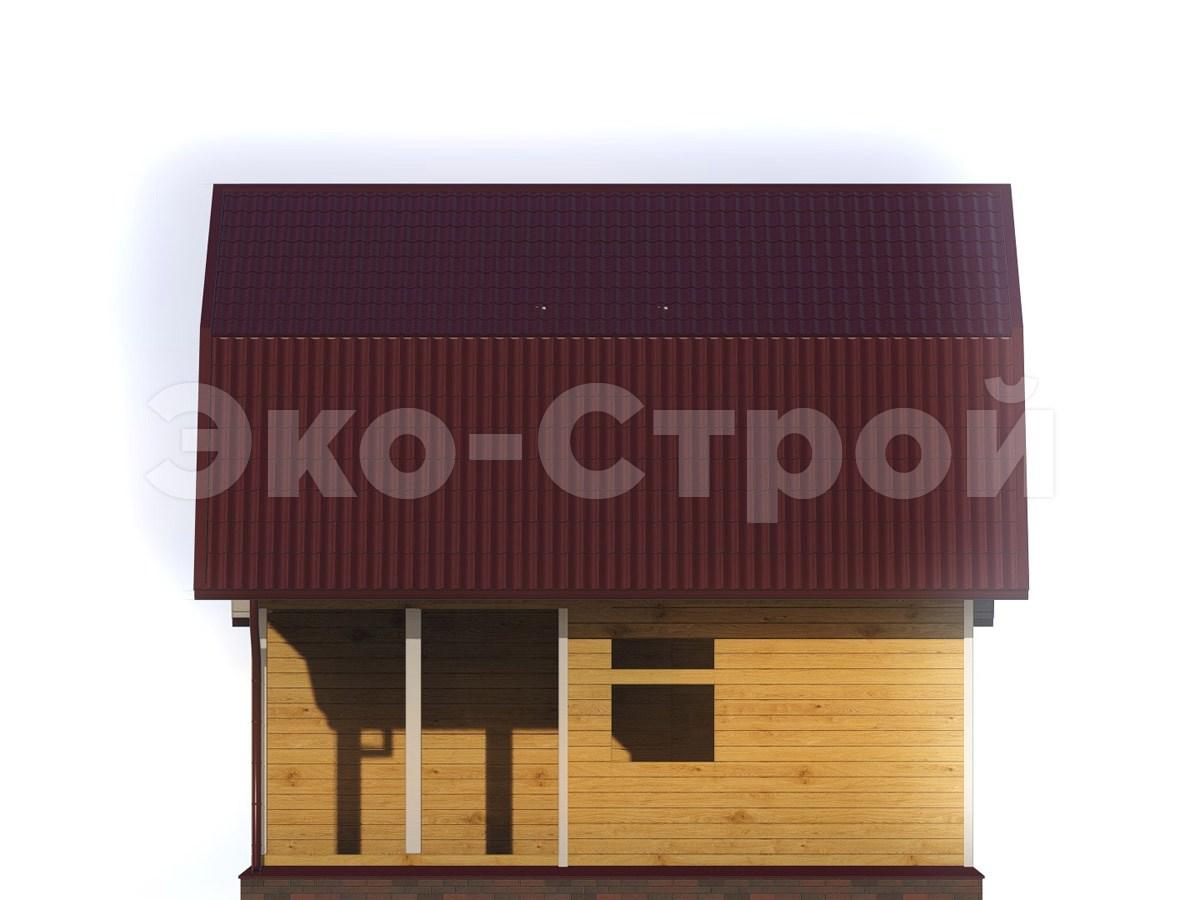 Дом из бруса ДБ 026 вид 3