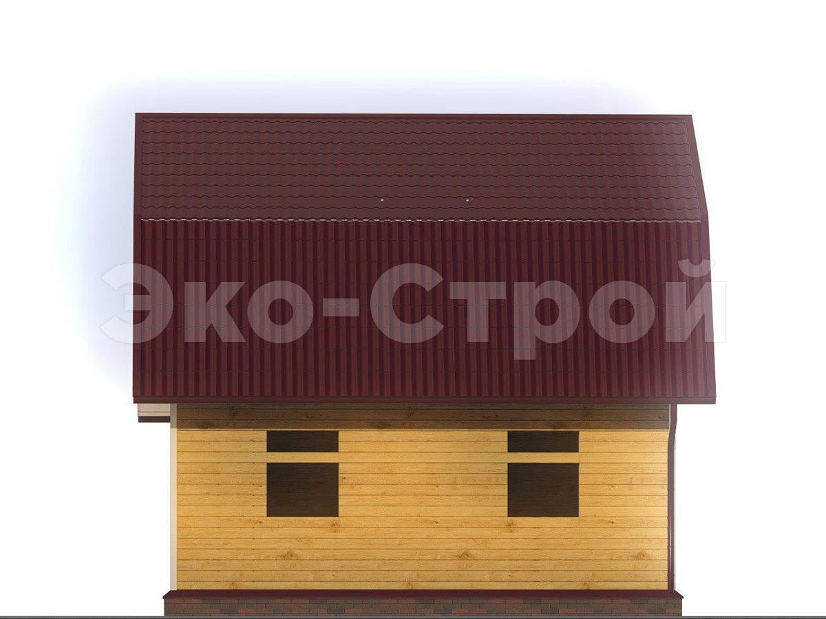 Дом из бруса ДБ 026 под усадку вид 2