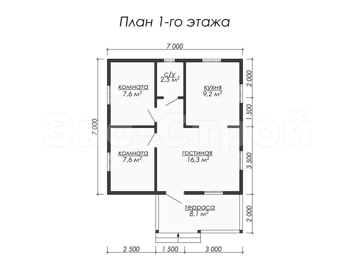 Дом из бруса ДУ 027 план