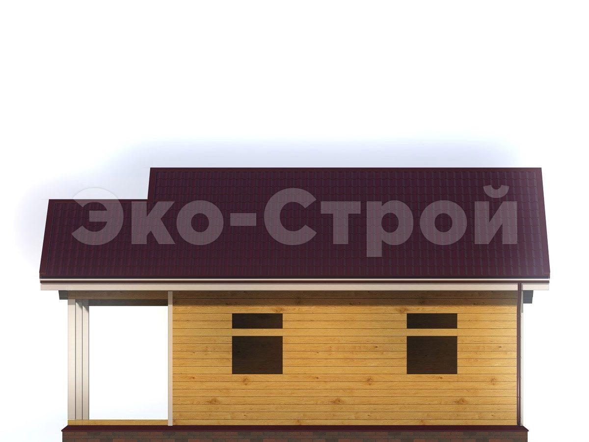 Дом из бруса ДУ 027 вид 3