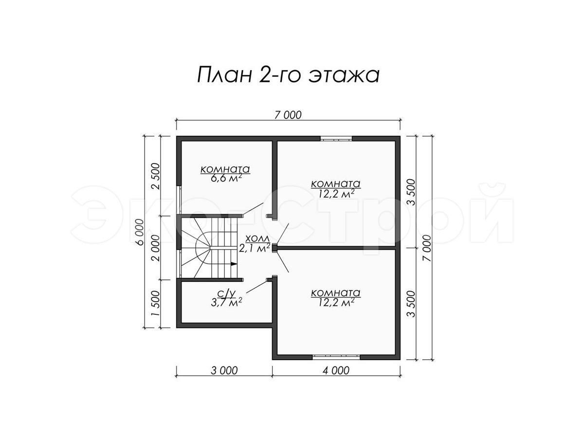 Дом из бруса ДУ 028 план 2 эт
