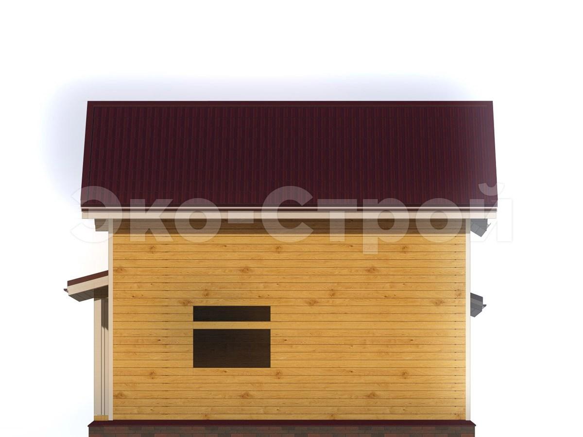 Дом из бруса ДУ 028 вид 4