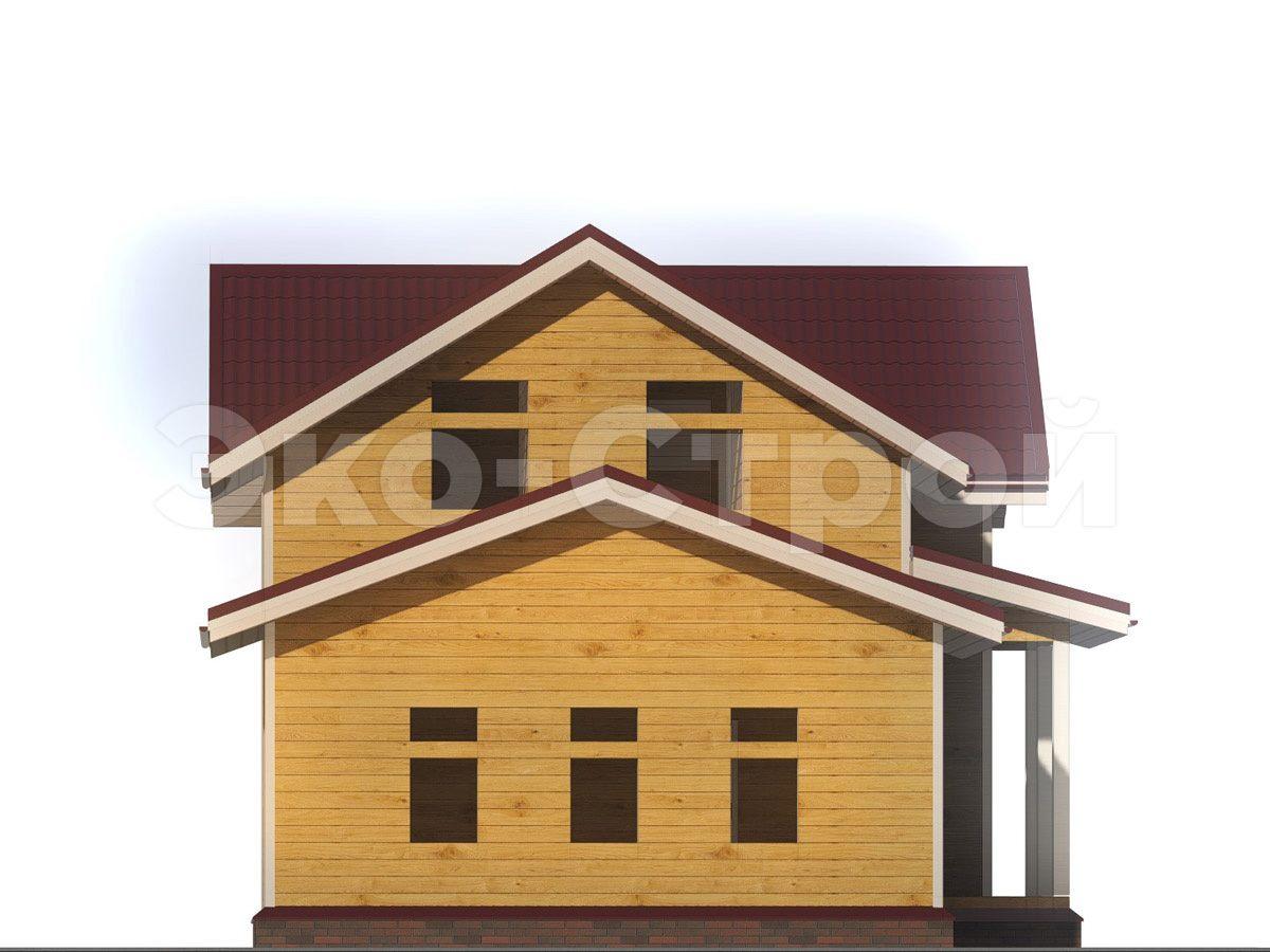 Дом из бруса ДУ 028 вид 1