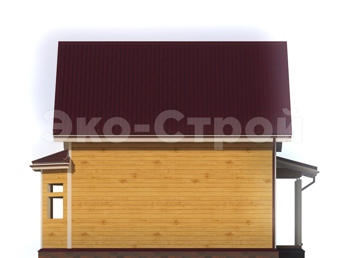 Дом из бруса ДУ 029 вид 3