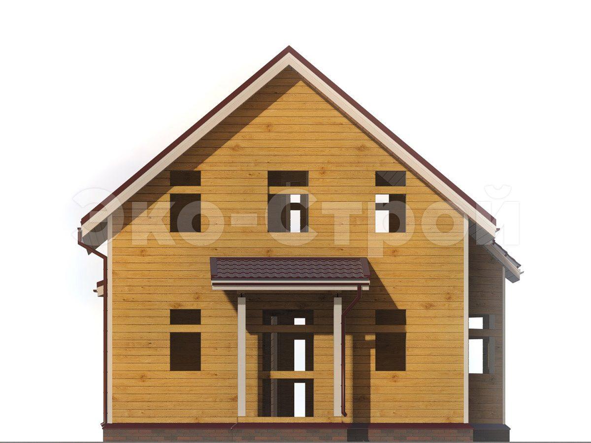 Дом из бруса ДУ 029 вид 2
