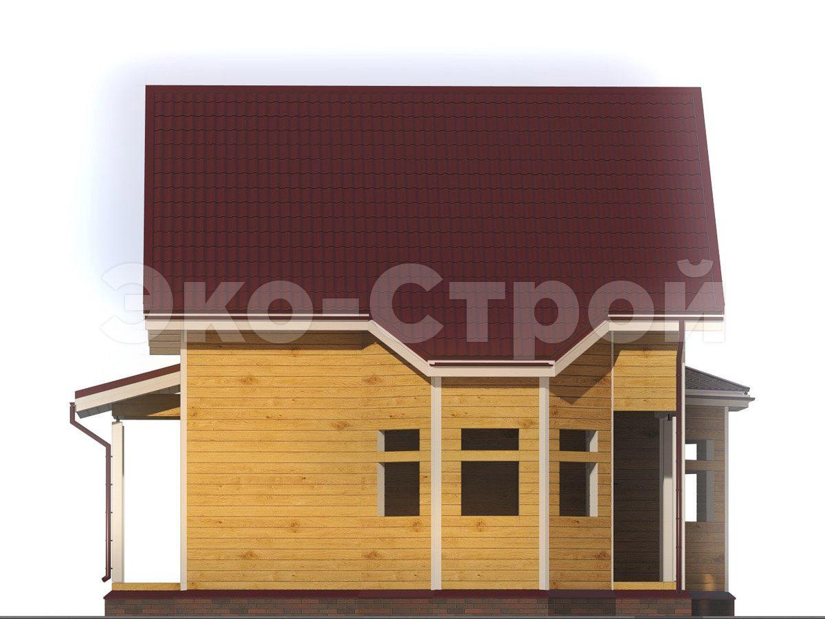 Дом из бруса ДУ 029 вид 1