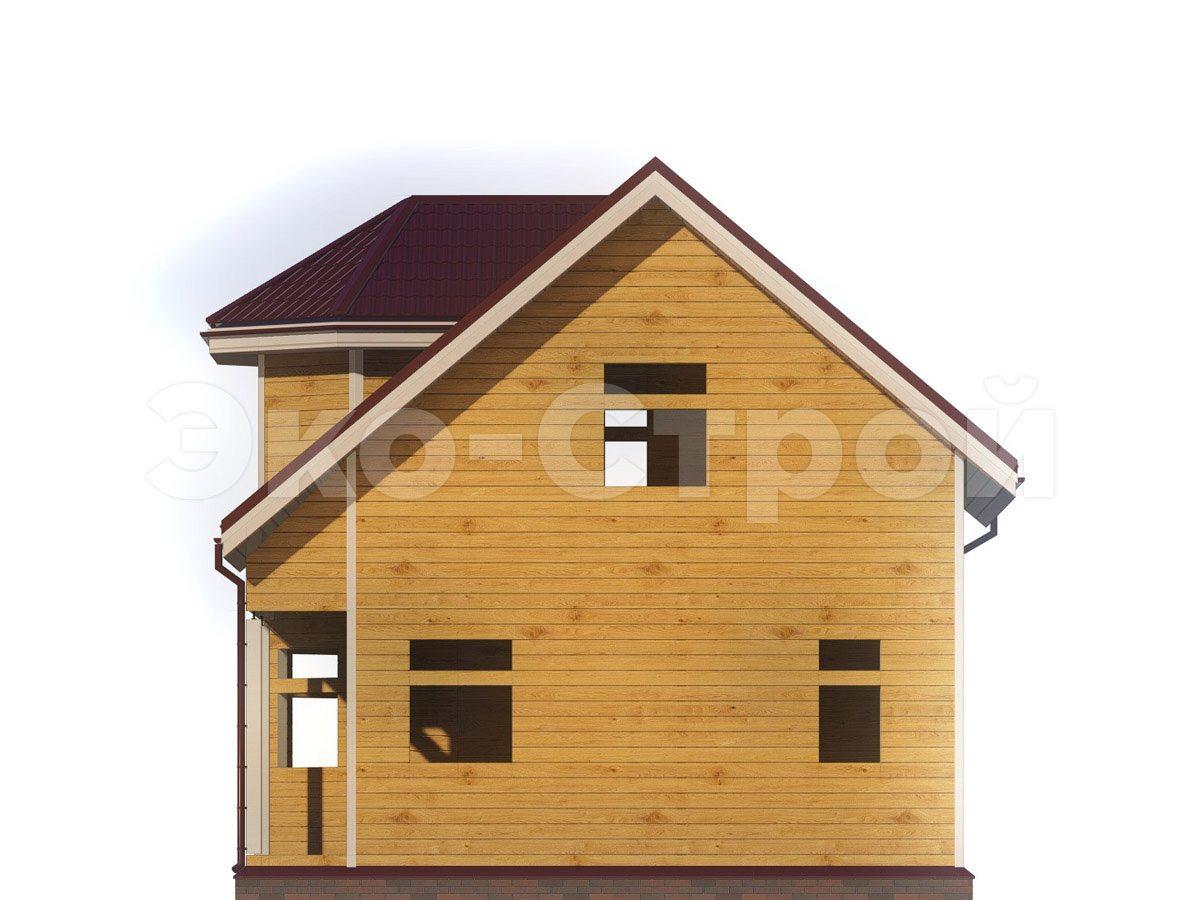 Дом из бруса ДУ 030 вид 3