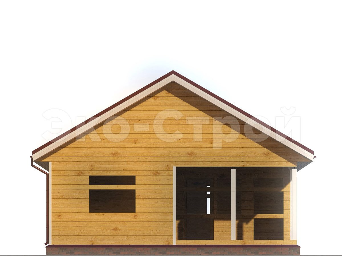 Дом из бруса ДУ 030 вид 4