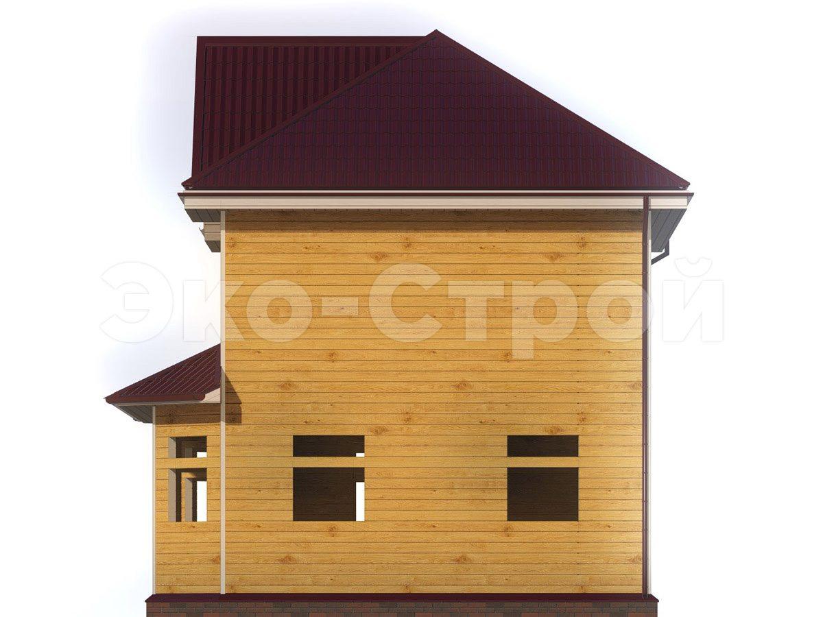 Дом из бруса ДУ 032 вид 3