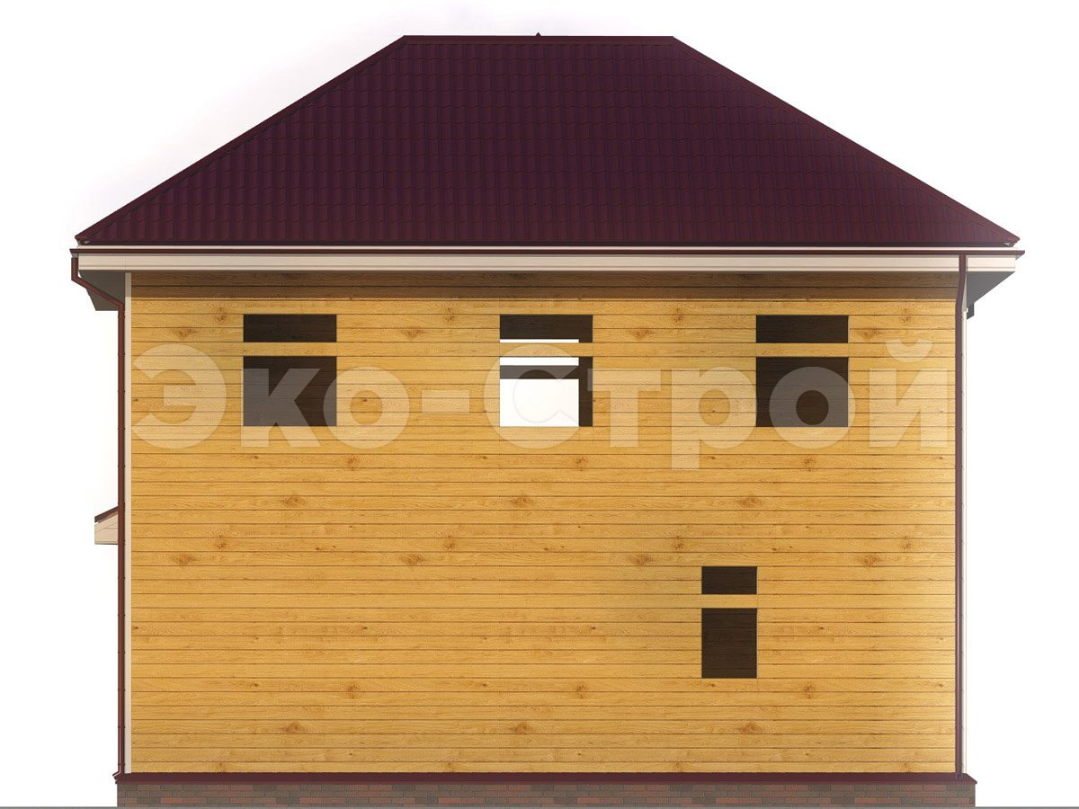 Дом из бруса ДУ 032 вид 2