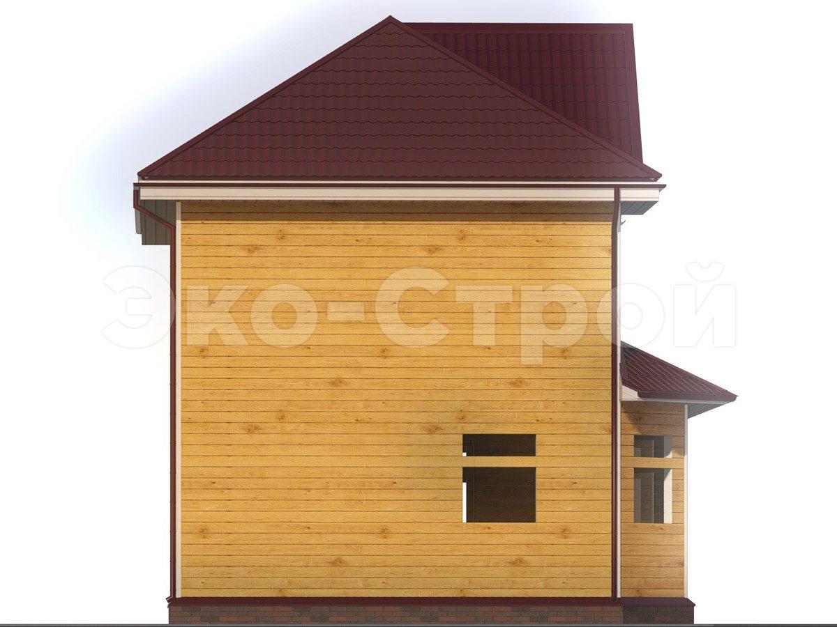 Дом из бруса ДУ 032 вид 1