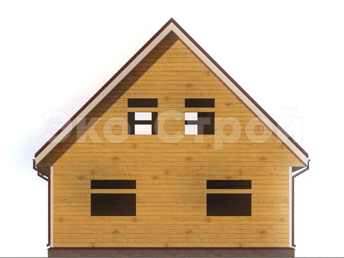 Дом из бруса ДУ 033 вид 1