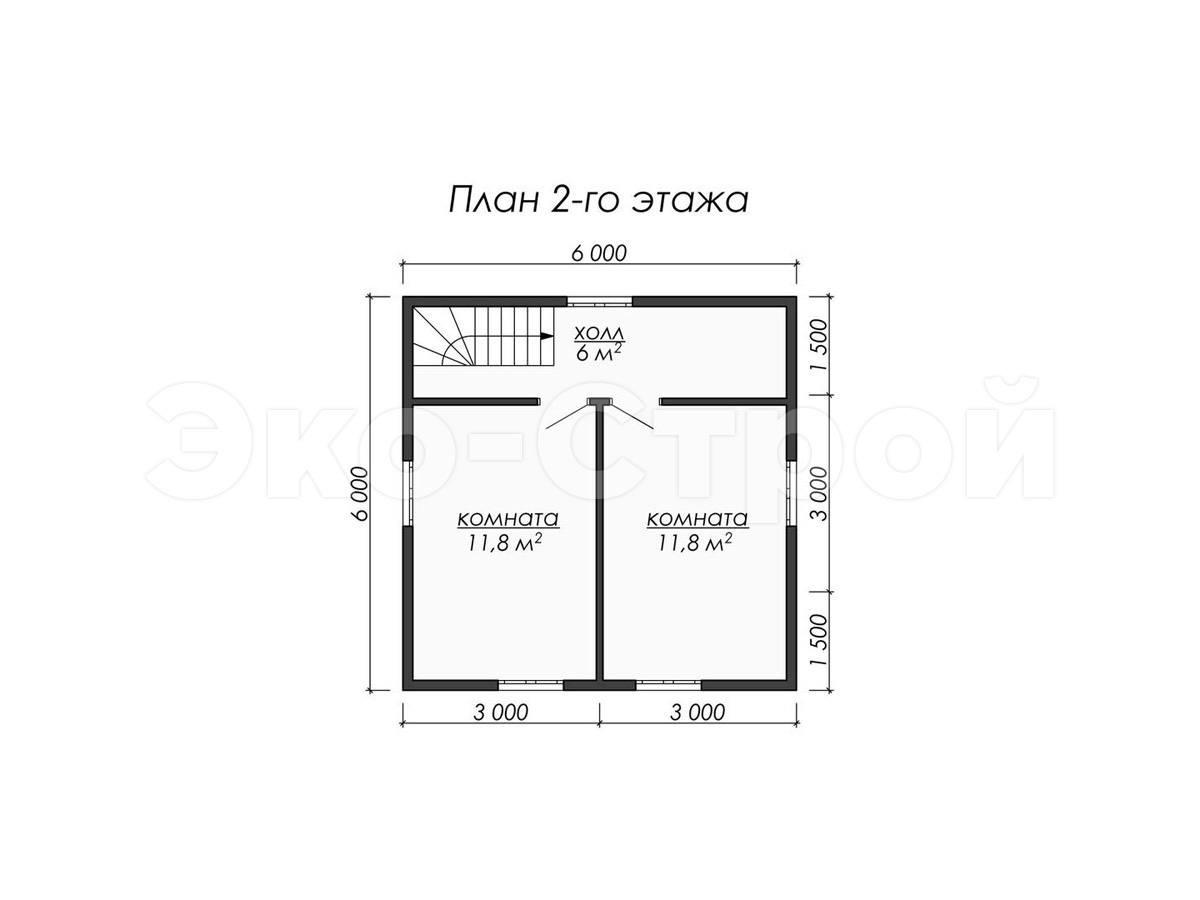 Дом из бруса ДУ 034 план 2 эт