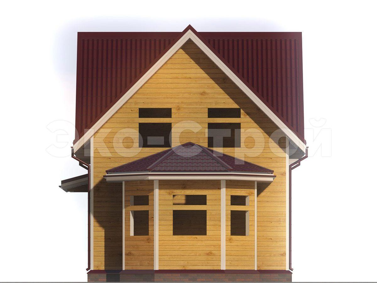 Дом из бруса ДУ 034 вид 4