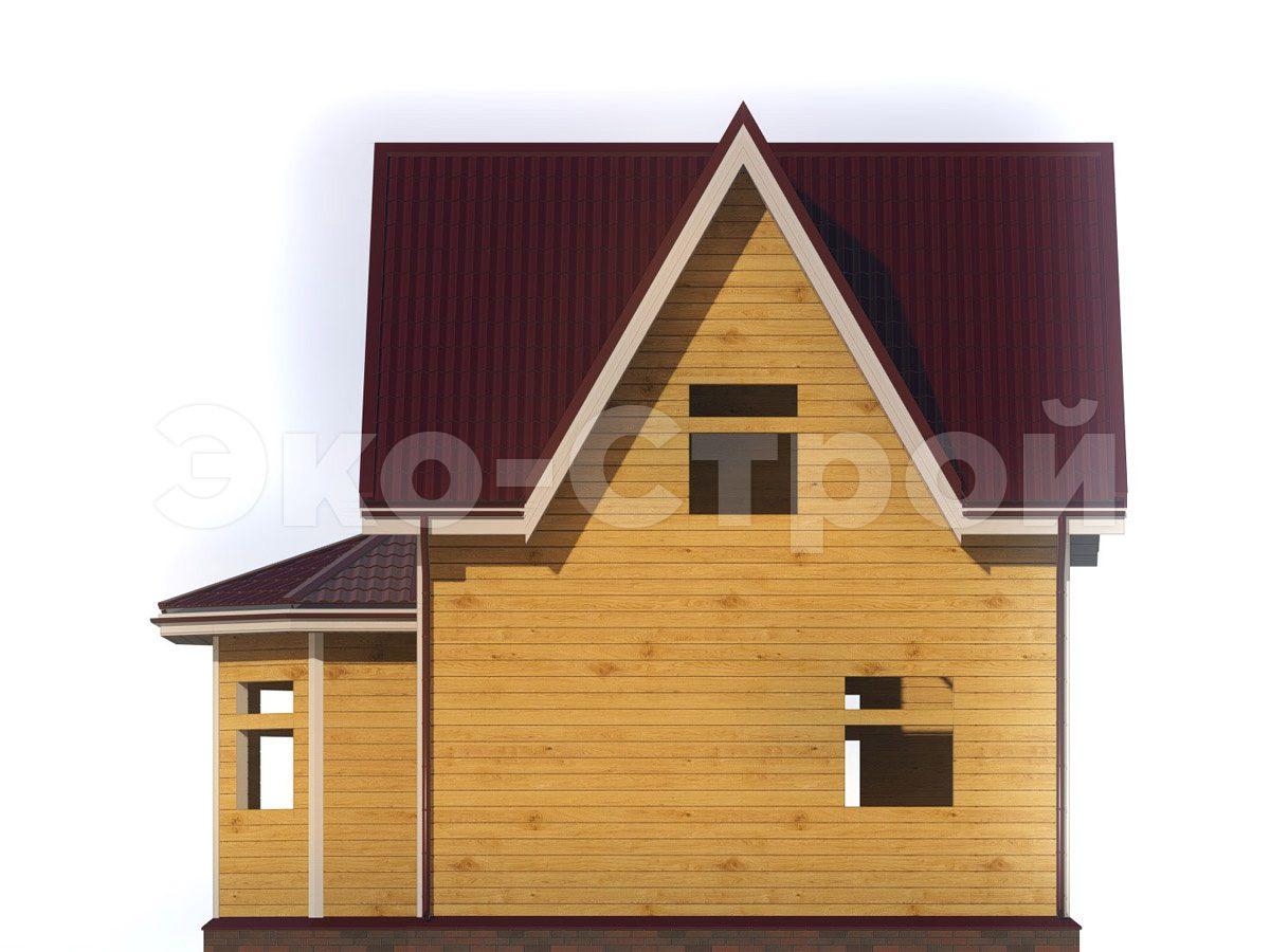 Дом из бруса ДУ 034 вид 3