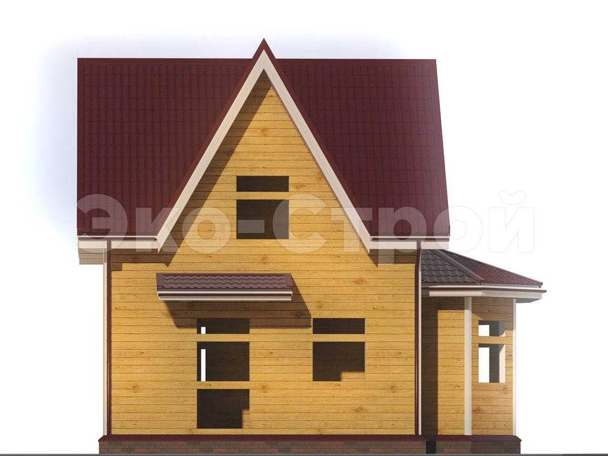 Дом из бруса ДУ 034 вид 1