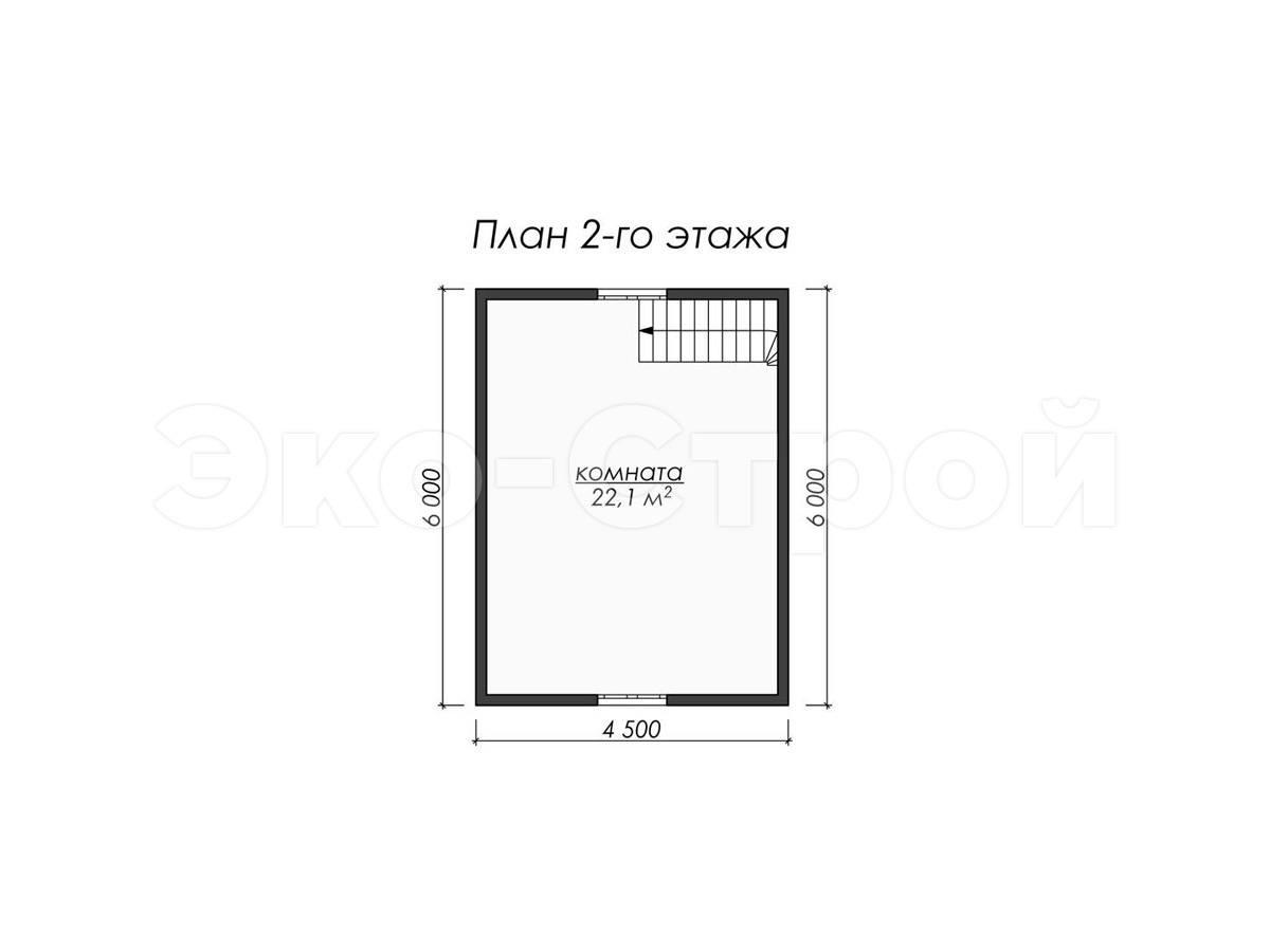 Дом из бруса ДУ 035 план 2 эт