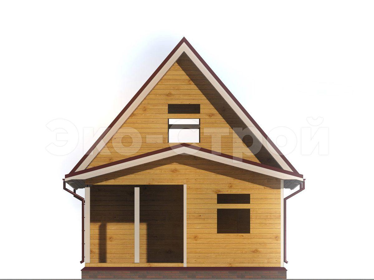 Дом из бруса ДУ 035 вид 4