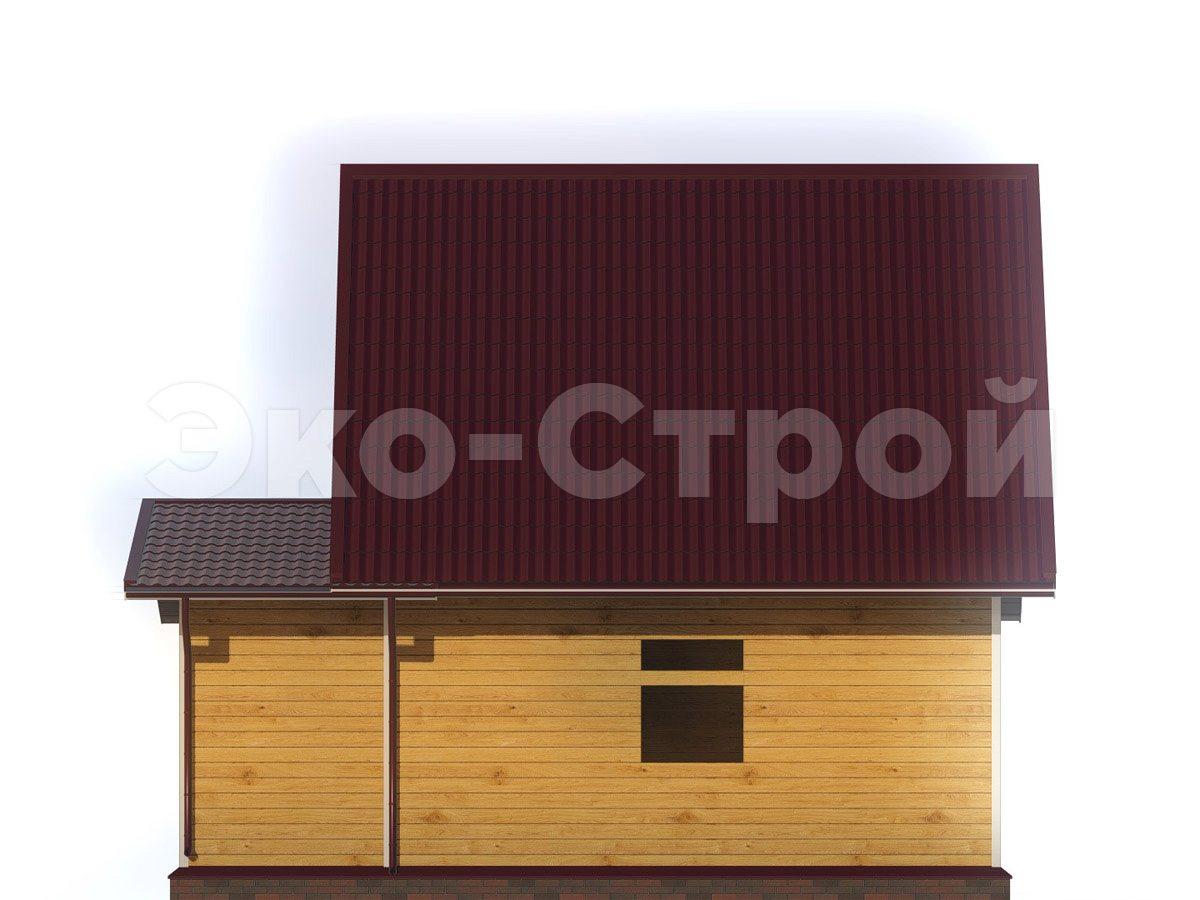 Дом из бруса ДУ 035 вид 3