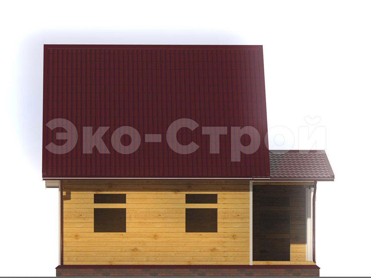 Дом из бруса ДУ 035 вид 1