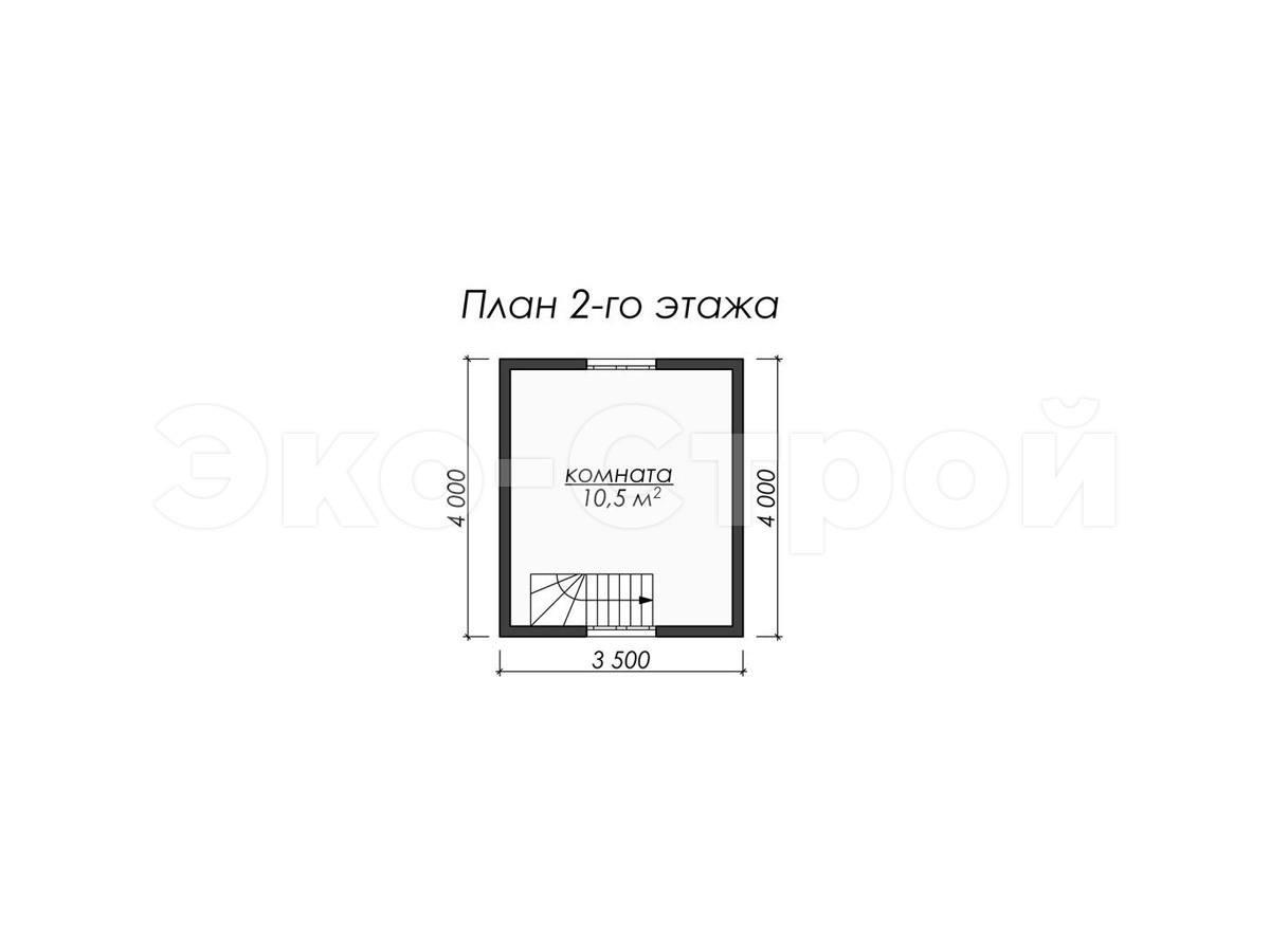 Дом из бруса ДУ 036 план 2 эт
